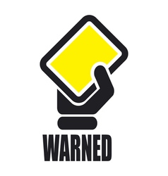 warned icon vector image vector image