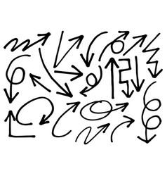 0050 hand drawn arrows vector