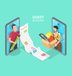 3d isometric flat concept commercial vector image