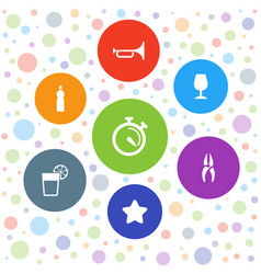 7 cool icons vector image