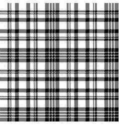 Abstract check pixel plaid seamless pattern black vector