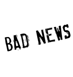Bad News rubber stamp vector