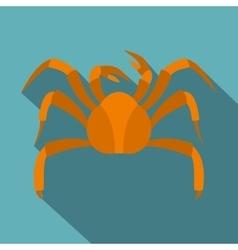 Big crab icon flat style vector image