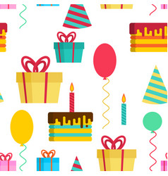 birthday pattern template anniversary vector image