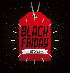 black friday big sale tag marketing inscription vector image