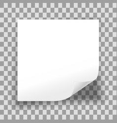 blank sheet paper vector image