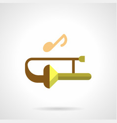 Brass wind music festival flat color icon vector