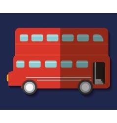 Bus london england design vector