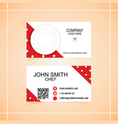 Business card of the restaurant vector