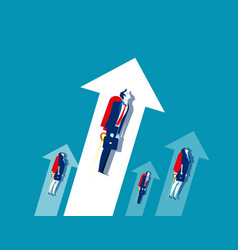 business team growth workers concept business vector image