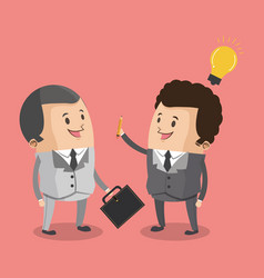 Business teamwork with idea vector