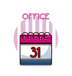 Calendar office element vector