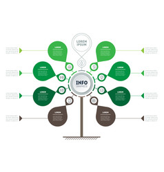 circular infographics tree of development vector image