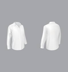 classic white shirt two sides view vector image