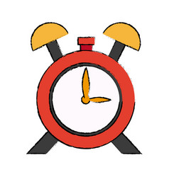 clock alarm hour school design icon vector image