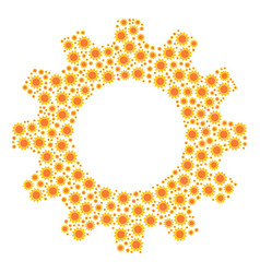 cog mosaic of sun icons vector image