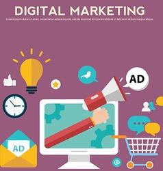 Concepts for digital marketing advertising social vector