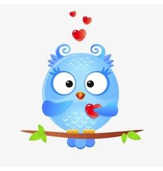 cute owl love vector image vector image