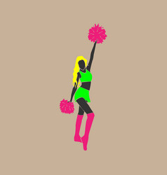 Dancing girl from a support group vector