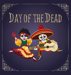 Day of the dead mexican holiday poster vector