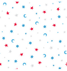 doodles seamless pattern with stars vector image