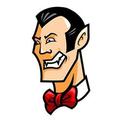 Dracula head vector