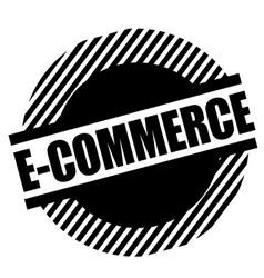 E-commerce stamp on white vector