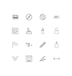 Education and science linear thin icons set vector