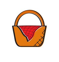 Empty picnic basket icon vector
