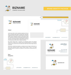 energy business letterhead envelope and visiting vector image