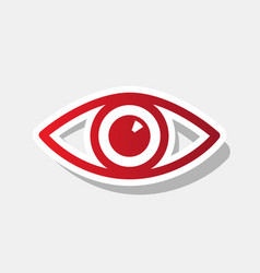 eye sign new year reddish vector image