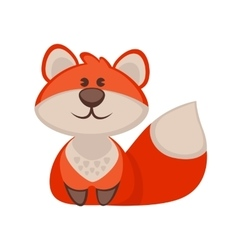 Fox funny cartoon character Cute icon vector
