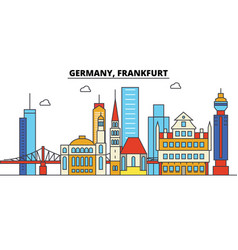 Germany frankfurt city skyline architecture vector