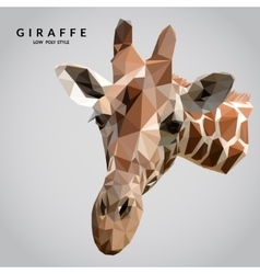 Giraffe Low Poly vector