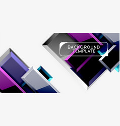 glossy arrows background vector image