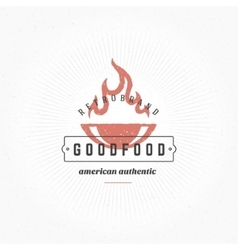 Grill Hand DrawnDesign Element in Vintage Style vector image