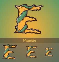 Halloween decorative alphabet - E letter vector