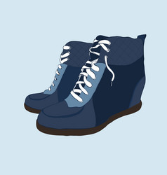 hand drawn colorful women footwear vector image