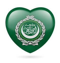 Heart icon arab league vector