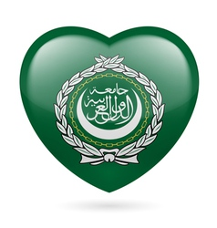 Heart icon of Arab League vector image