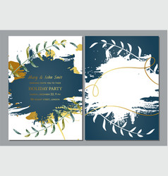 holiday party invitation 3 vector image