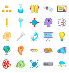 Human intelligence icons set cartoon style vector