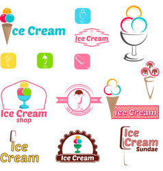 Ice cream logo for company or shop vector