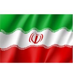 iran national flag vector image