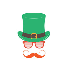irishman with glasses shutter shades on white vector image
