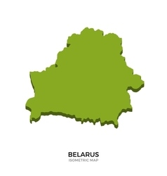 Isometric map of Belarus detailed vector image