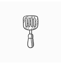 Kitchen spatula sketch icon vector