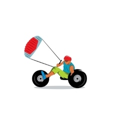 Kite buggy sport sign vector image