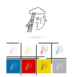 Ladder to cloud icon vector image