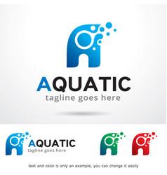 Letter a logo template vector
